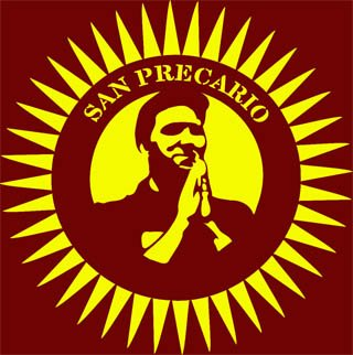 San Precario - the icon of movement against precarisation in Italy
