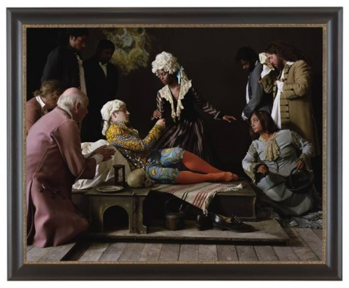 Yinka Shonibare, MBE; Fake Death Picture (The Death of St Francis - Bartolomé Carducho), 2011