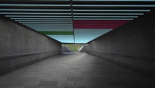 il. projekt instalacji interaktywnej reagującej na ruch przechodniów : Aneta Talarczyk, Joanna Hrisulidu, Piotr Żółkiewicz, Paweł Mastodont