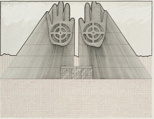 fot.: Jozef Jankovič, Projekt pomnika słowackiej rzeźby, 1976, fot. dzięki uprzejmości artysty/