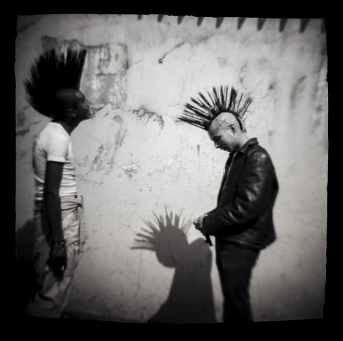 Carlos Somonte, Untitled (Punks), Black and white print, 1987