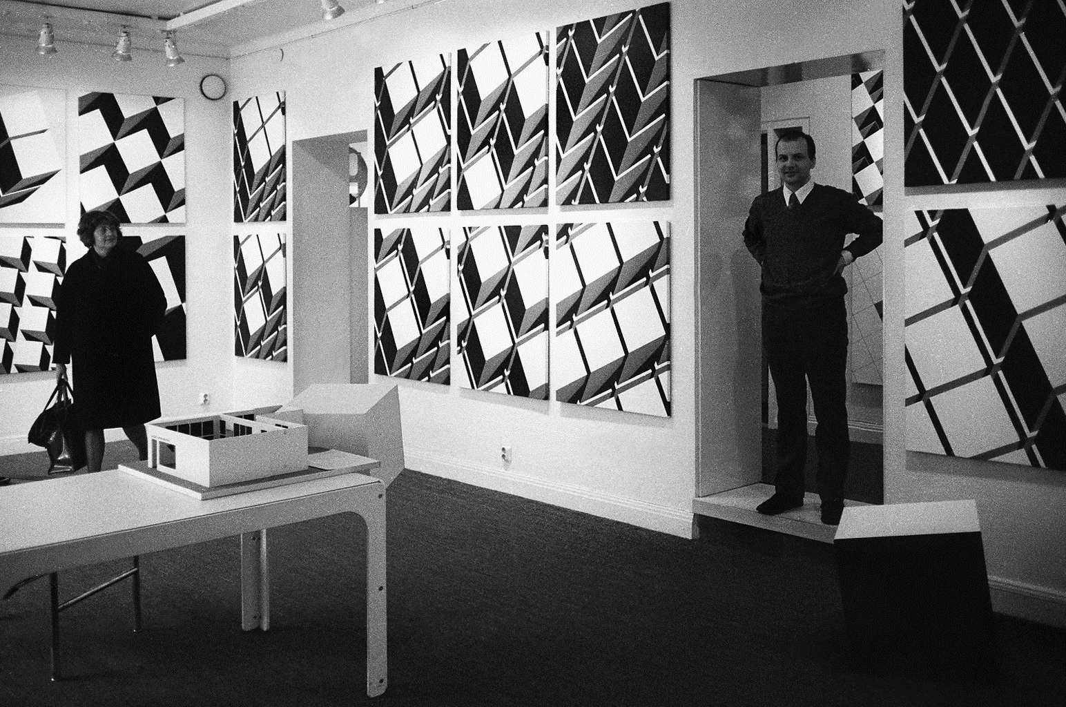 Zbigniew Geppert and Margareta Bohlin-Carlson, Swedish photographer and writer. Aronowitsch Gallerie in Stockholm, 1970