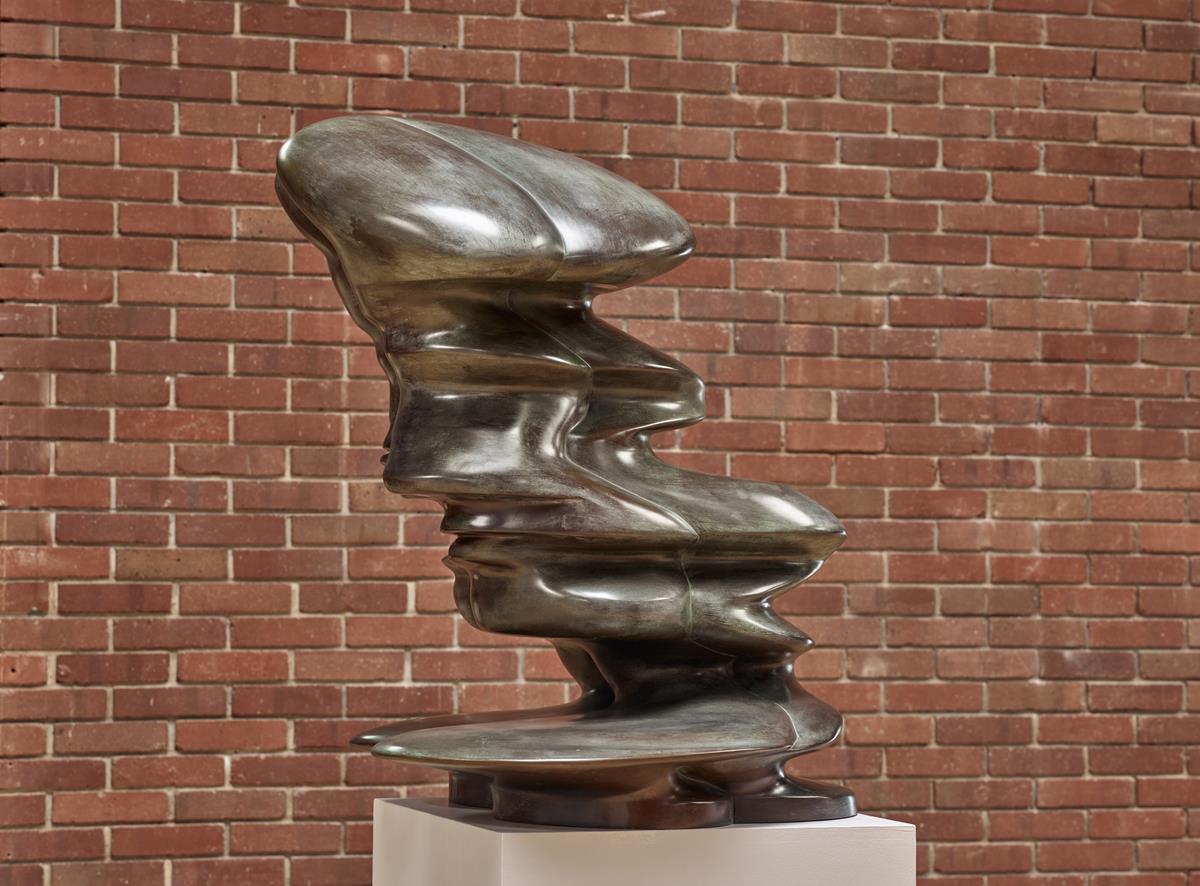 Tony Cragg, Helixhead, 2007, dim 116 × 90 × 86, bronze, photo Michael Richter