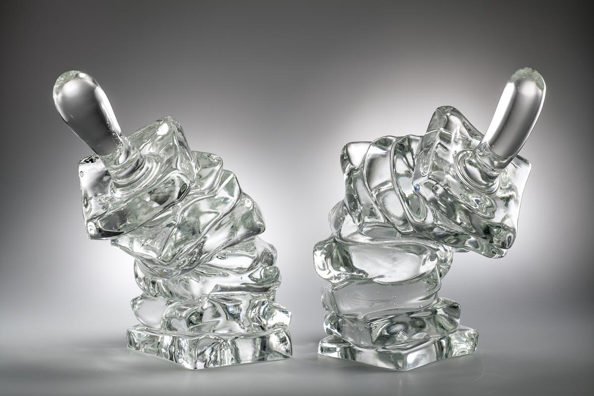 Tony Cragg, Weatherman, dim 37 × 33 × 22, 38 × 33 × 22, glass, photo Francesco Allegretto