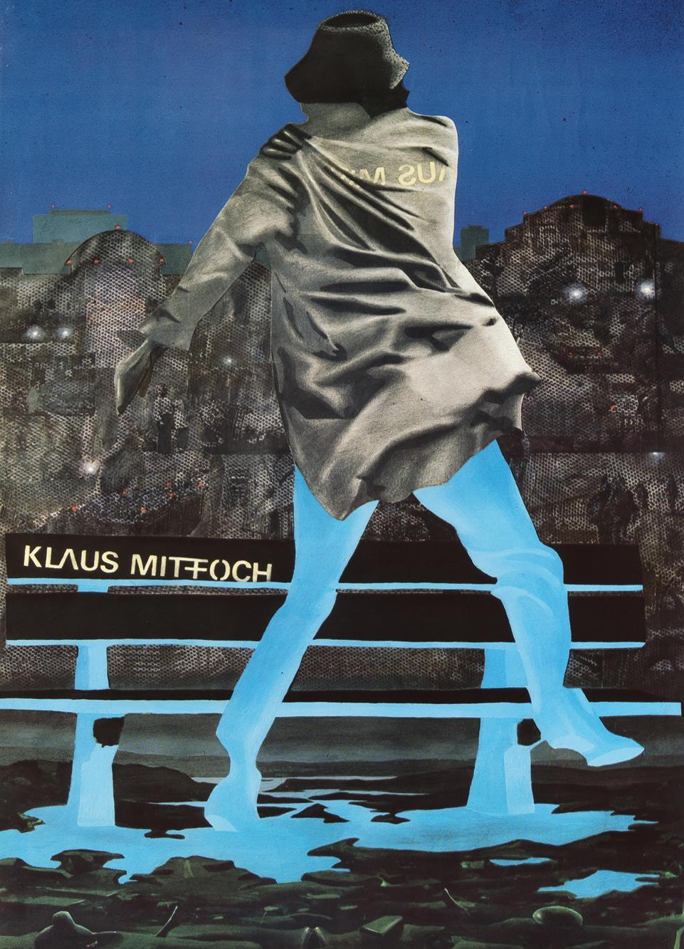 """Klaus Mitffoch, 1984, plakat. Projekt: Artur """"Gouy"""" Gołacki, współpraca Andrzej Rogowski. Dzięki uprzejmości Andrzeja Rogowskiego"""