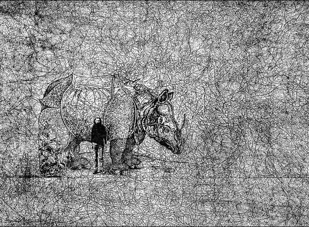 Andrzej Dudek-Dürer, Rhinoceros… Me… Death… s, 1984. DTZSP collection
