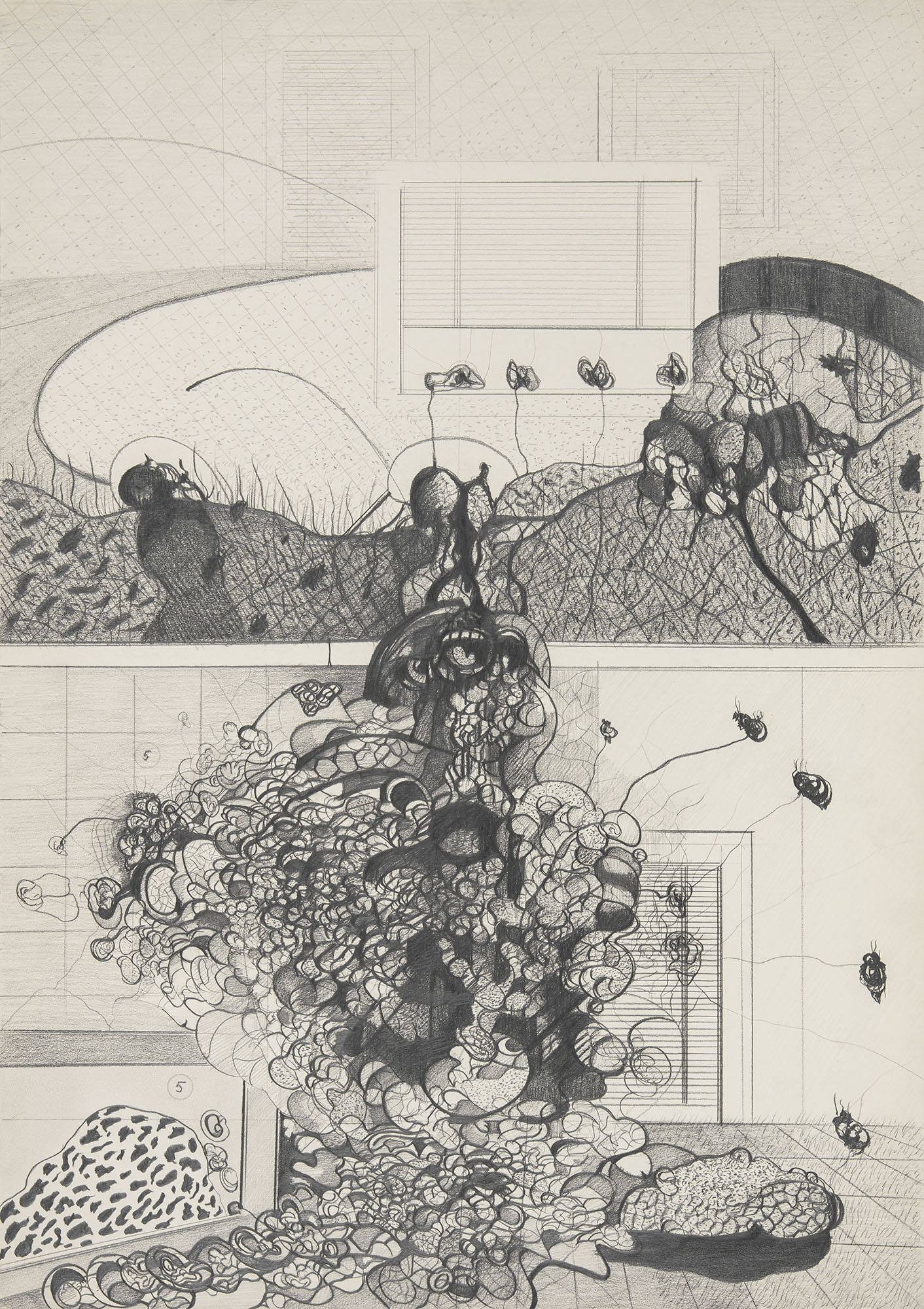 Łukasz Korolkiewicz, untitled, 1971, pencil on paper, Łukasz Korolkiewicz ©, courtesy of Monopol Gallery