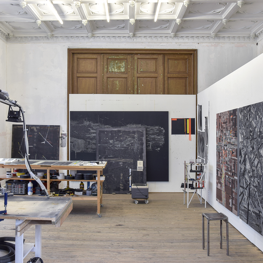 Marcin Dudek's studio, Brussels, photo courtesy of the artist