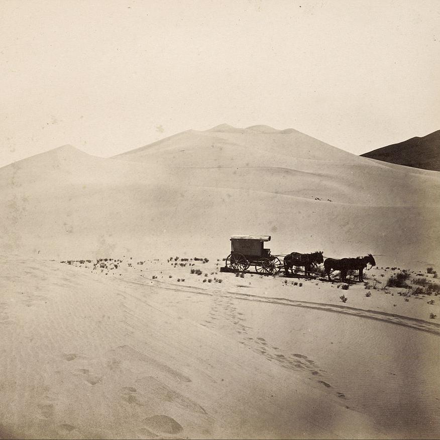 Timothy O'Sullivan, Wydmy, Pustynia Carson, Nevada, 1867, Creative Commons