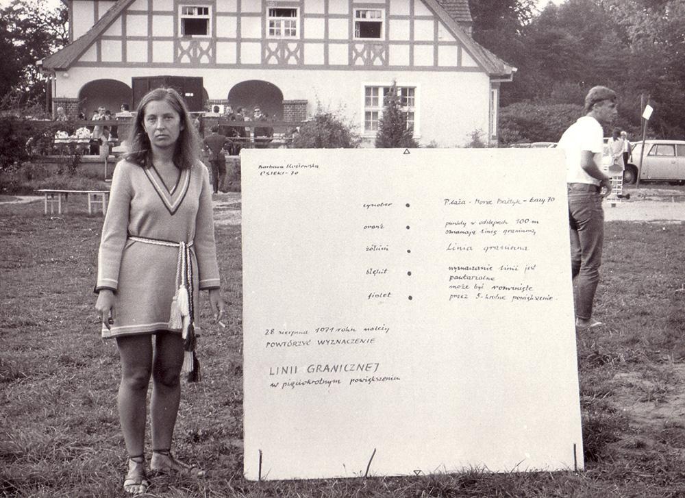 Barbara Kozłowska podczas VIII Spotkania Artystów i Teoretyków Sztuki w Osiekach, 1970, dzięki uprzejmości Zbigniewa Makarewicza