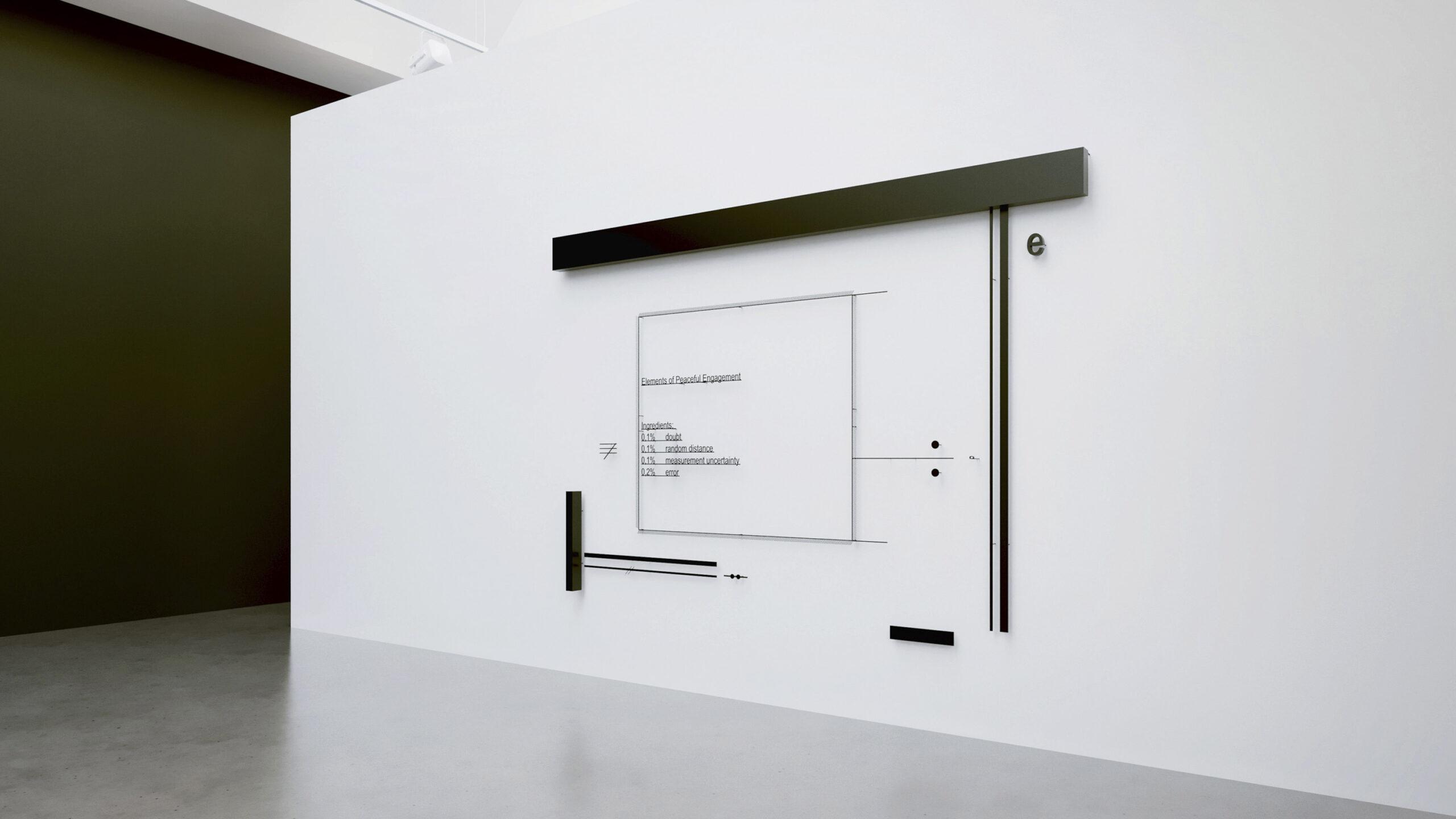 Marlena Kudlicka, Elements of Peaceful Engagement. receipt, 2020, wall sculpture, 168 x 240 x 7cm, powdercoated steel, © Marlena Kudlicka, courtesy: Barbara Thumm